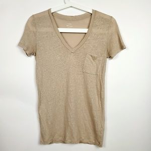 J Crew Tee Gold Shimmer